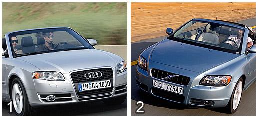 Audi A4 Cabrio 2.0 TDI vs Volvo C70 2.0D