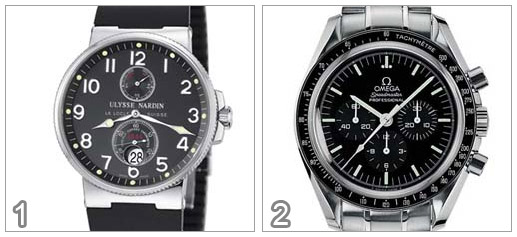 Ulysse Nardin Maxi Marine Chronometer vs Omega Speedmaster Professional