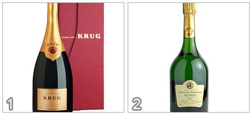 Krug Grande Cuvee Brut Taittinger Comtes de Champagne 1995