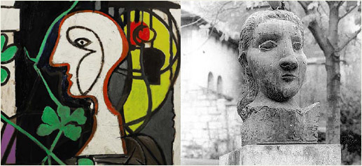 La Lampe de Picasso y Tete de Femme (Dora Maar) de Picasso