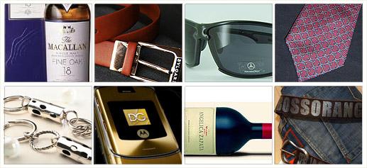 Whisky Macallan Cinturon Bulgari Gafas Mercedes Benz Corbata Hermes Llavero Marcelo Toledo Movil Motorola Dolce Gabbana Angelica Zapata Jeans Hugo Boss