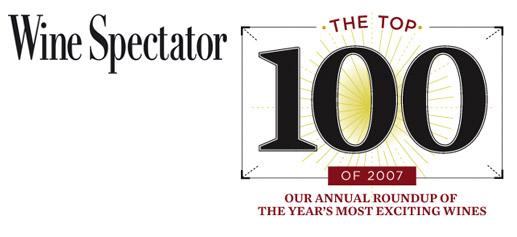 Wine Spectator los mejores vinos de 2007
