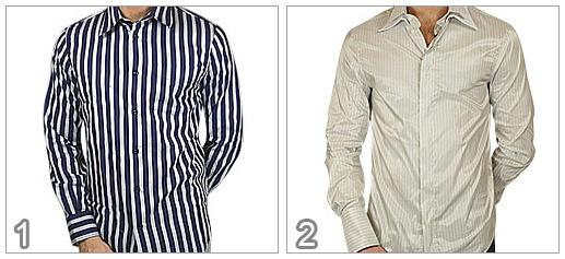 Camisas. Armani Jeans vs Roberto Cavalli.