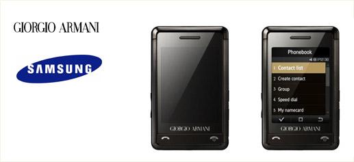 Giorgio Armani Samsung Phone, un móvil de lujo
