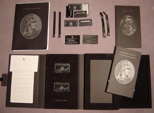 American Express Centurion  Black Card Kit De Bienvenida