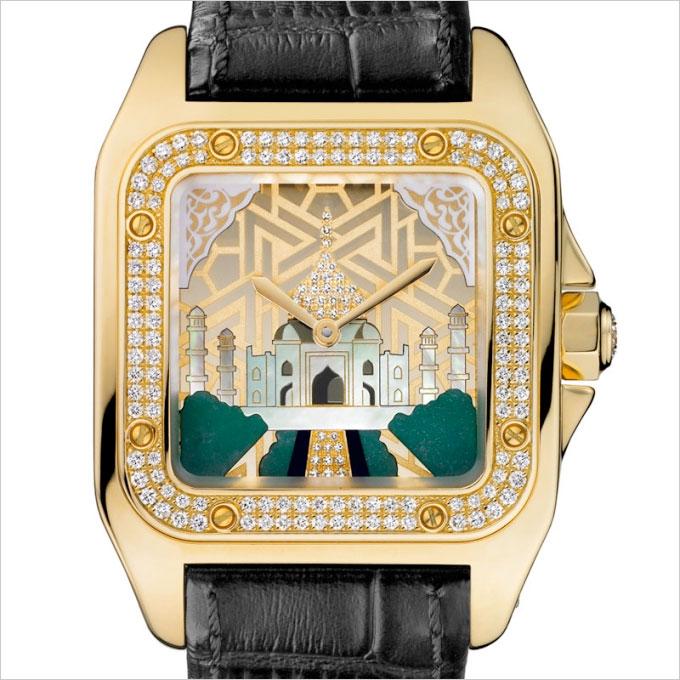 Cartier Santos 100, edición limitada Taj Mahal