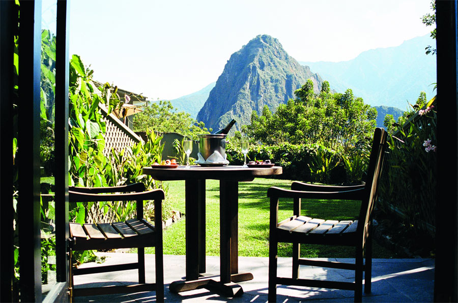 Machu Picchu Sanctuary Lodge. Terraza