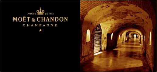 Visita a las bodegas de Moët & Chandon en Epernay
