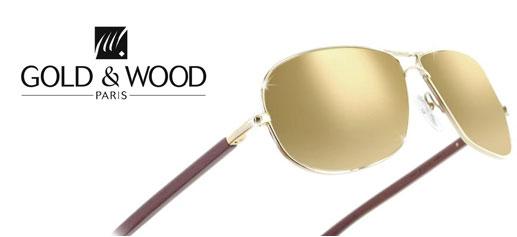 Gafas de aviador de Gold & Wood