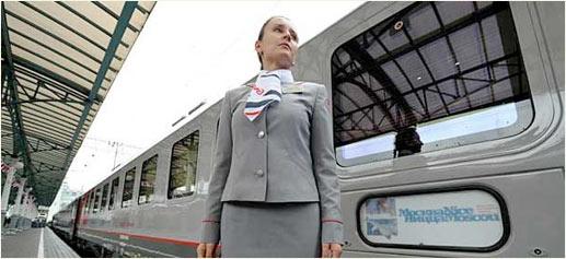 Nuevo tren de lujo entre Moscú y Niza. Fotografía por ALEXANDER NEMENOV, Getty Images