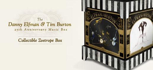 Danny Elfman y Tim Burton 25º Aniversario Music Box