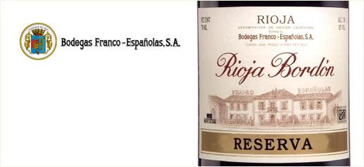 Rioja Bordón Reserva