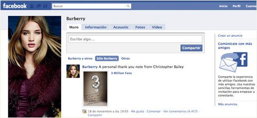 Marcas de lujo en Facebook