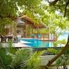 Cabañas en los árboles. Shangri-Las Villingili Resort