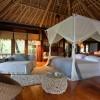 North Island Seychelles. Dormitorio de una villa. Fotografía por Andrew Howard
