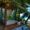 North Island Seychelles. Sala de una villa. Fotografía por Andrew Howard
