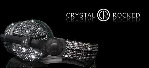 Auriculares Sennheiser con Crystal Rocked y Swarovski