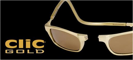 Gafas de oro CliC Gold, una lectura de 75.000 dólares