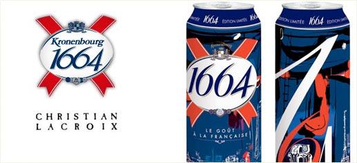 Christian Lacroix viste de lujo la cerveza 1664