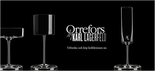 El cristal según Karl Lagerfeld: colección para Orrefors