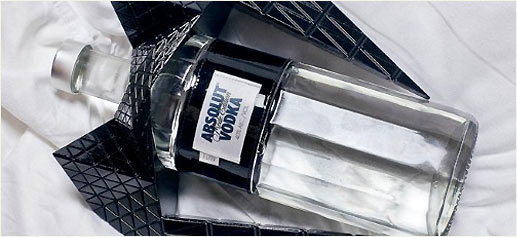 Nuevo diseño de la botella de Vodka Absolut