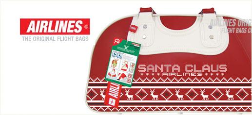 Santa Claus Airlines, una bolsa de viaje para navidad