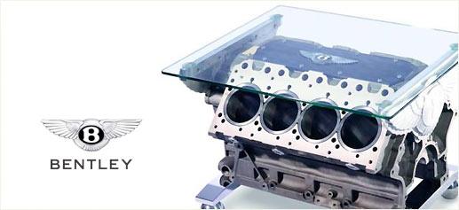 Una mesa con motor Bentley