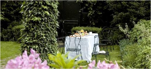 Brunch en un jardín de París