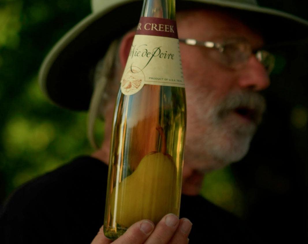 """Clear Creek Brandy """"Pear in the Bottle"""""""