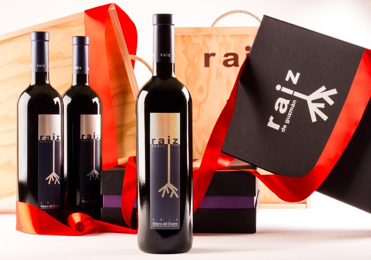Esta Navidad regala vinos Raíz de Guzmán. Estuche Raíz de Guzmán. Roble